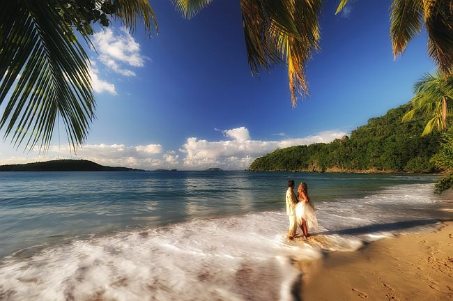 Virgin island National Park Beach Wedding