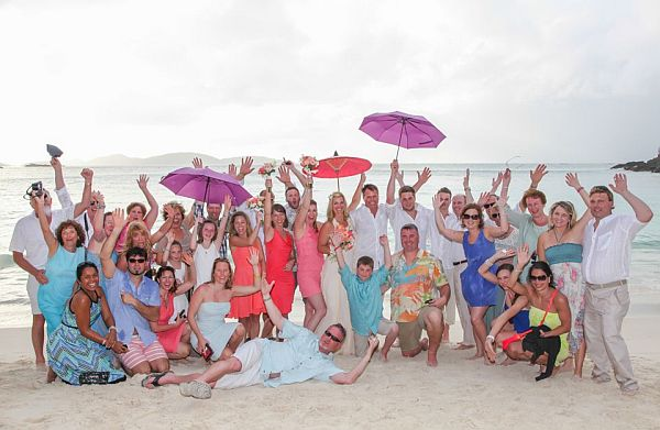 Bring Everyone to your Barefoot Beach Wedding